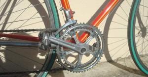 chaîne et plateau de vélo